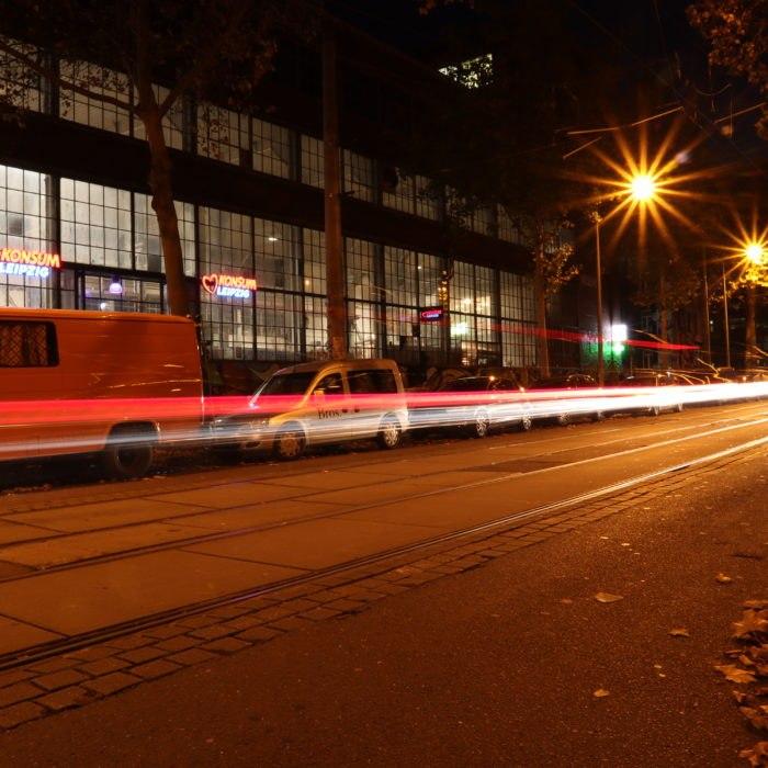 Langzeitbelichtung - Karl-Heine-Straße, Leipzig