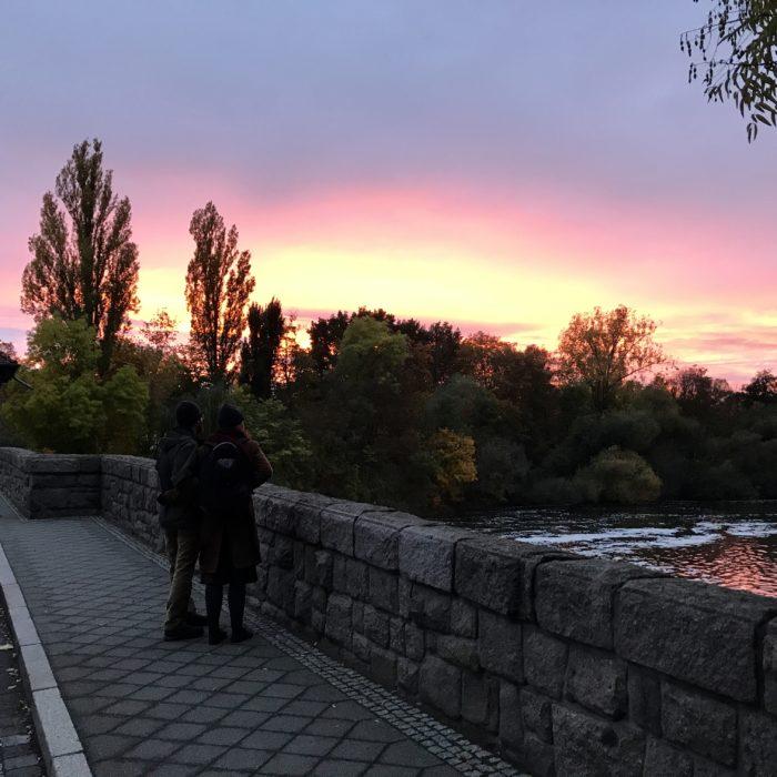 Sonnenuntergang - Richard-Wagner-Hain, Leipzig