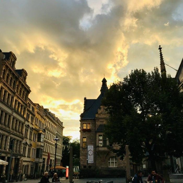 Feierabend mit Ausblick - Thomaskirchhof, Leipzig